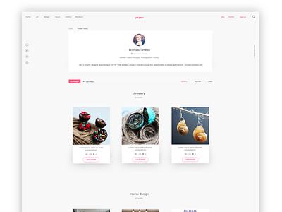 Creative Portfolio portfolio home page webpage minimal clean