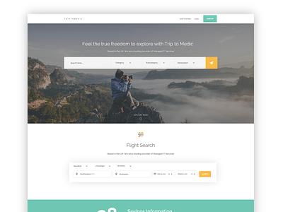 Triptomedic home page web page home webpage clean