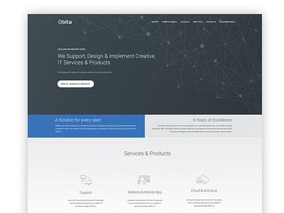 Version 2 home page web page minimal webpage it company