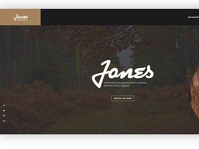 Jones Bass Guitars home page web page webpage