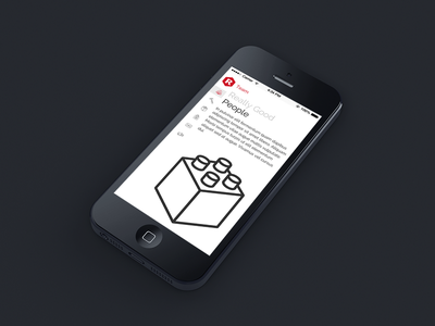 Really Good Team mobile responsive navigation clean team about ios7 iphone ios