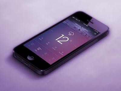 Weather App weather app weather app clean mobile ios minimal flat typography swipe