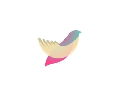 Logo Mark wings illustration vector freedom hands bird branding mark logo