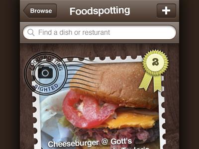 Foodspotting 2.0 iphone brown