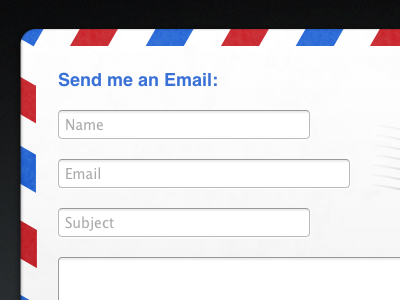 Contact Popup ui web airmail email