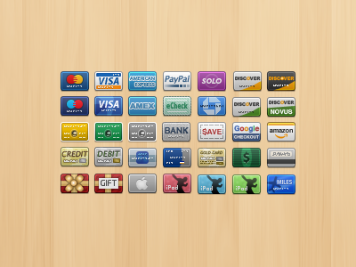 Credit Card Icons icons pixel e-commerce