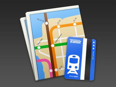 Transit Buddy osx icon map transportation train