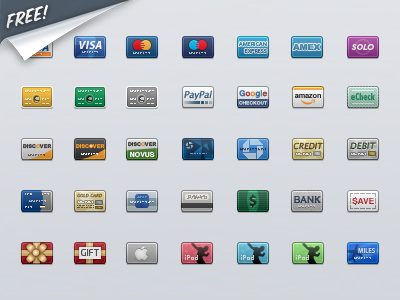 Credit Card Icon pack icons