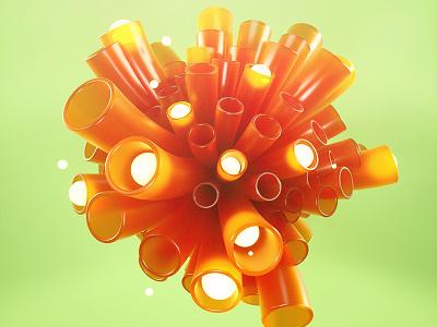 tubes  c4d cinema4d octane colors tubes