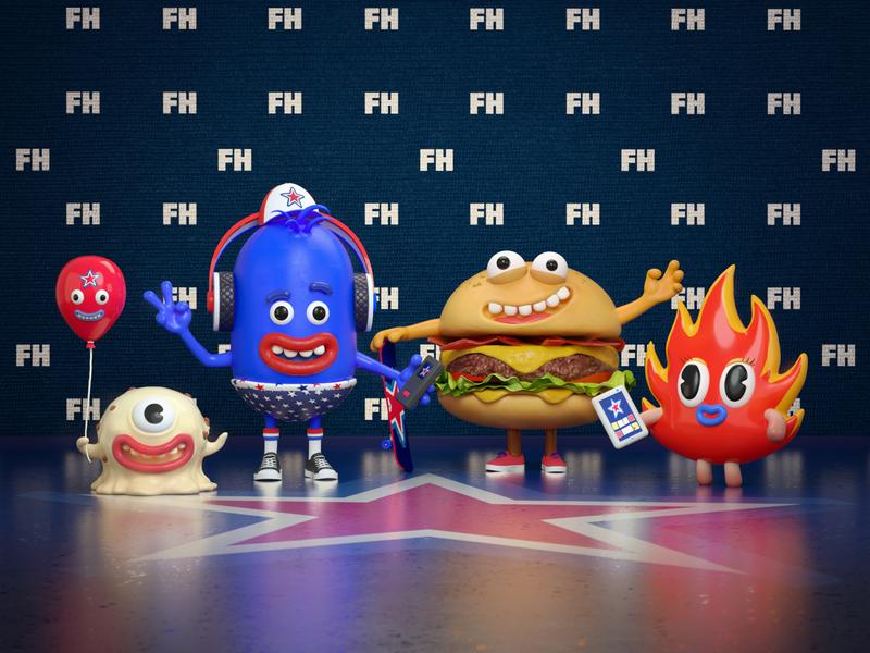The Little Monsters c4d 3d character cinema4d
