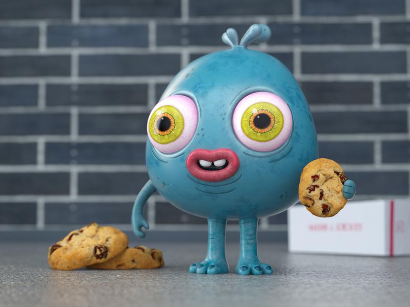 cookies 3d character cinema4d