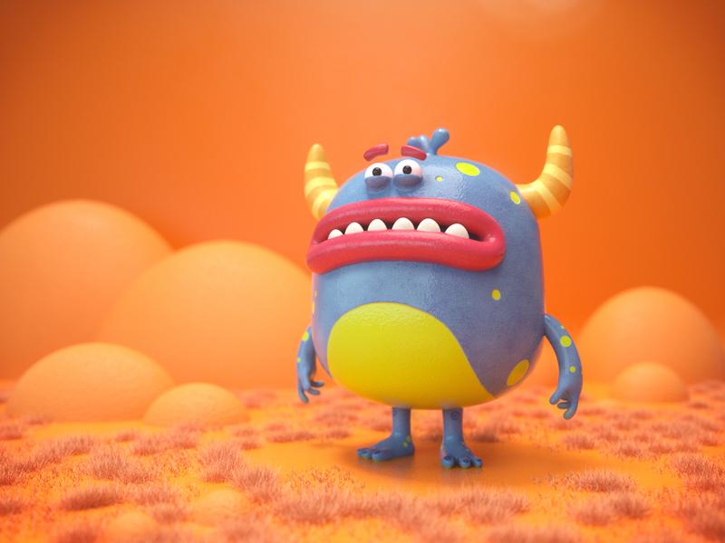 Yellow Horns 3 3d c4d character cinema4d