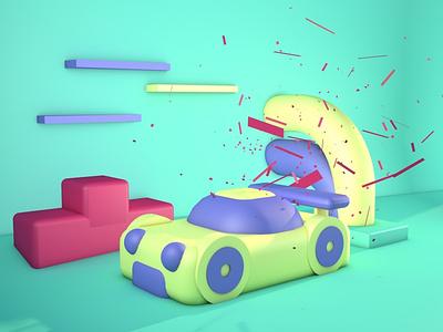 Bodegón 3D- Coche