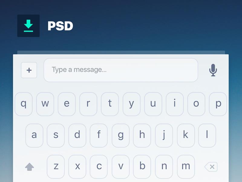 Custom keyboard [PSD] by Todor Bonev on Dribbble