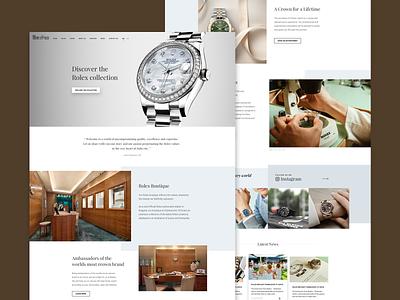 Official Rolex Retailer visual ux sketch watches typography rolex responsive web ui design