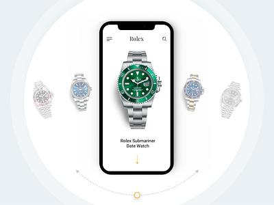 Besha - Official Rolex Retailer slider experience mobile presentation design ux ui watches luxury rolex