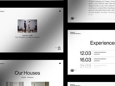 HOBB web designer platform design event coworking space coliving website coworking ui design platform editorial web design