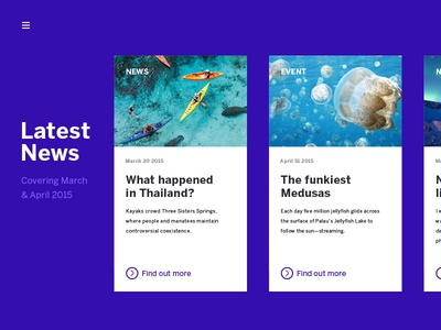 Latest News news events card design ui web design