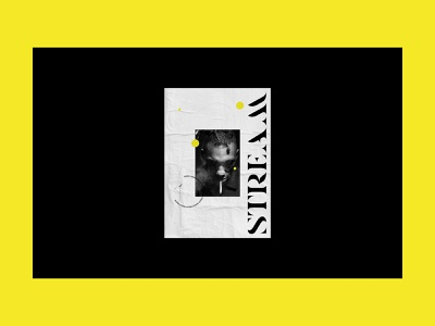 Stream Poster editorial graphic design poster music art direction music app entertainment music branding design art direction