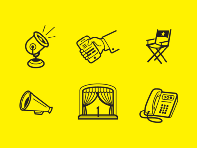 Icons for a bank
