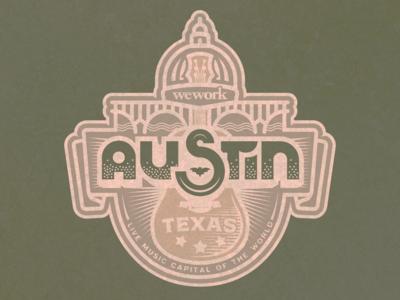 WeWork Austin Sticker
