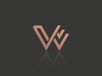 "Unused symbol design with the letter ""w"""