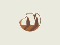 """Unused symbol design with the letter """"m"""""""