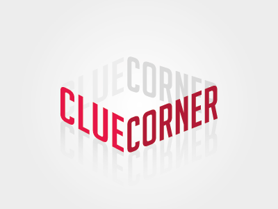 Unused logo design: Clue Corner type unused visual design logo clue corner corner clue
