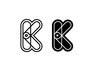 """Type experiment with the letter """"k"""" mark design element icon logo unused experiment type letter k"""
