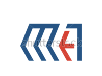 Logo template with the arrow and the letter M