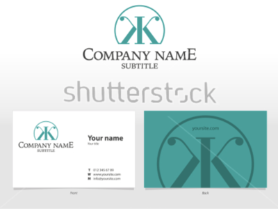 Visual identity template with logo and business card icon mark graphic design symbol monogram experiment unused design letter type business card design shutterstock branding identity visual template k k logo business card logo