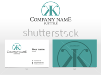 Visual identity template with logo and business card
