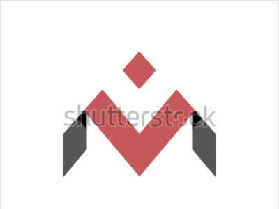 Logo template with the letter M print design logotype logo design identity icon mark graphic design symbol visual typography shutterstock template monogram experiment branding unused design type letter logo
