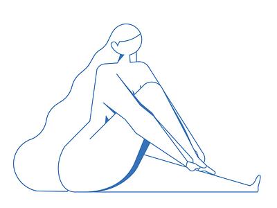 Shoe Friday (WIP) wip blue power female women naked lady shoes climbing boulder alvz illo