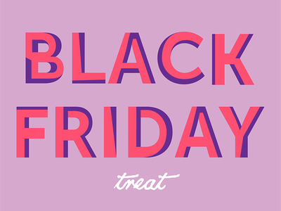 Black Friday distorted funky discount font lettering typography type illustration presents shopping black friday