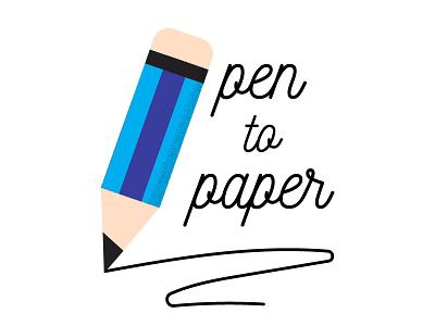 Pen to paper motivational motiovation badge illustration draw pencil pen paper pen to paper
