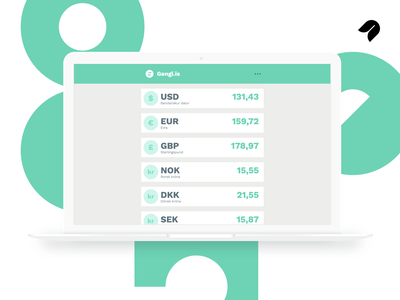 Gengi.is flat minimal ux ui design currency converter ui ux web app