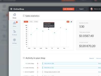 Online shop (concept dashboard)