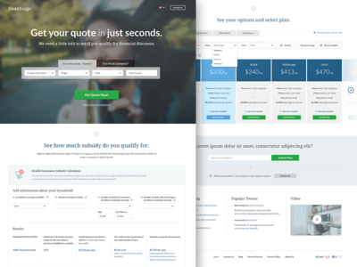Health Insurance (landing page)