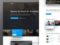 Gamekit home page (Landing page)