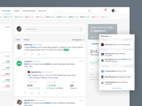 Selltwee - Feed page comments graph social media stats data post navigation feed application ux ui