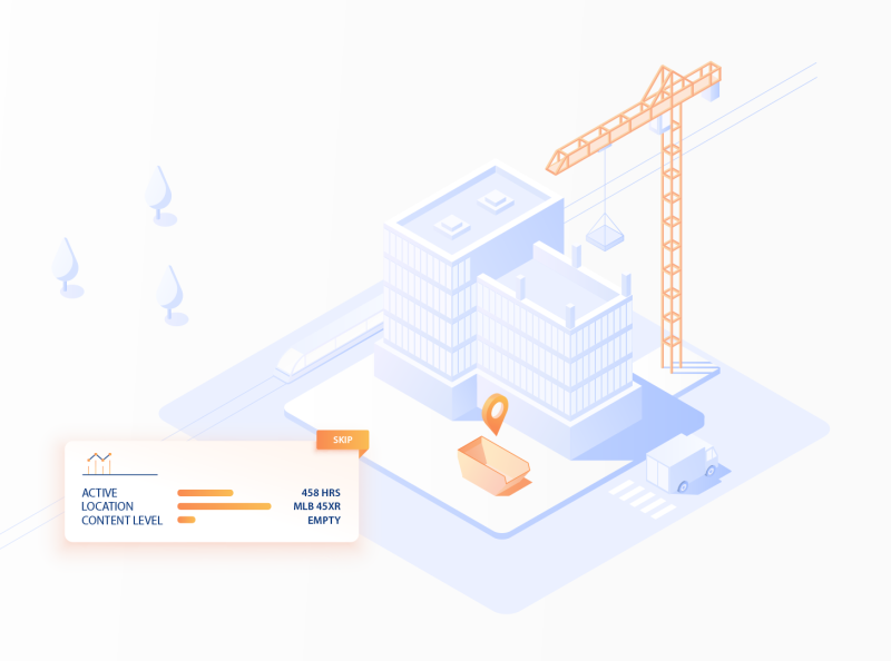 The Connected Site card street skip crane car building isometric illustration isometric design isometric art isometric isometry iso branding vector animation explainer illustration digital design illustration flat design