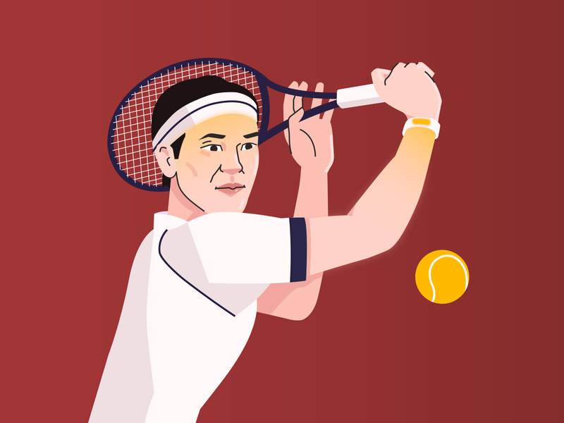 Web illustration for Aibstract lineart line professional asian colorful dynamic vector flat lien tennis ball man sportsman sports player tennis player tennis character design character digital design illustration
