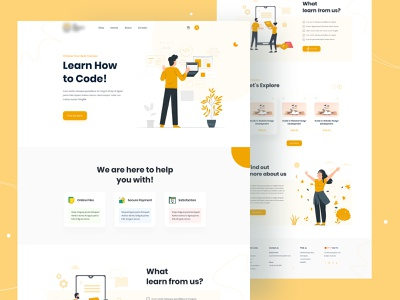 E-Learning Home Page UI Design landing page design idea landing page design templates landing page design services landing home page home page code learn webdesign learning website design ui landing page sales funnel marketing campaign web development ux design marketing agency landing page design