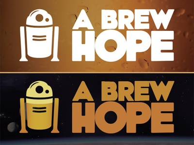 A Brew Hope Logo Concepts beer branding design star wars branding logo