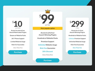 UI Challenge Day 040 - Pricing Table pricing table ui challenge ui design ui