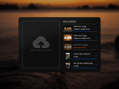 UI Challenge Day 041 - File Uploader Widget widget file uploader ui challenge ui design ui