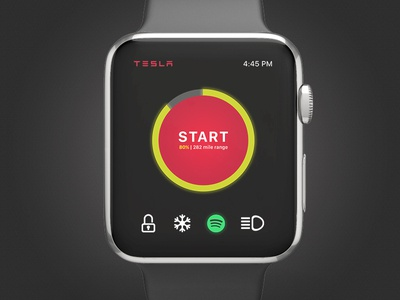 UI Challenge Day 046 - Remote Start tesla ui challenge apple watch ui design ui