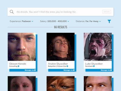 UI Challenge Day 050 - HR Widget star wars ui challenge ui design ui