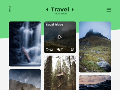 UI Challenge Day 052 - Inspiration Feed travel inspiration inspiration ui design ui challenge ui
